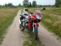 Honda CBR 125R, Learner legal, No MOT.