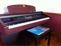 Yamaha Clavinova CVP206 with 88 keys and free stool