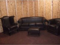 Real leather full suite Chesterfield