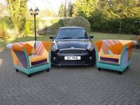 2 Gigantic Size Kings Throne Tub-Chairs