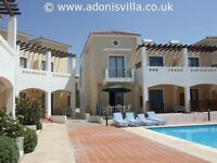 2 bedroom holiday home with pool to rent in Pafos Cyprus Self catering villa apartment Paphos