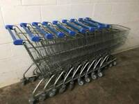 Supermarket Shopping Trolley Nine In Total