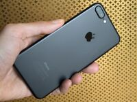 IPHONE 7 PLUS 128GB MATT BLACK APPLE IN IMMACULATE ALMOST NEW CONDITION WITH ACCESSORIES AND BOX