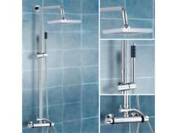 BRAND NEW BOXED TWIN HEAD THERMOSTATIC SHOWER UNIT