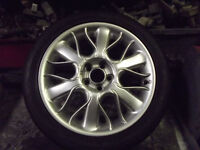 """MGZT OR ROVER 75 17"""" SERPENT ALLOY WHEELS + TYRES 2 NEW 2 AS NEW"""