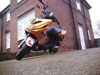 Yamaha Aerox race modified 70CC reg as 50 (Not Zip Or Typhoon or Runner)