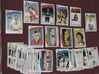 50 1976-77 O-Pee-Chee cards (sheet cut- perfect mint condition!)