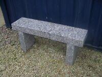 Solid Granite Garden Bench