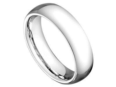 - Cobalt 5mm Plain Dome Comfort Fit Wedding Band Ring, Polished Finish, Sizes 5-10