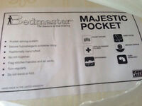 NEW Majestic Pocket Sprung King Size Mattress.