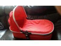 Mamas and papas joolz red carrycot vgc