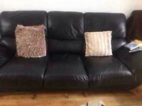 Leather 2 and 3seater sofa can be delivered