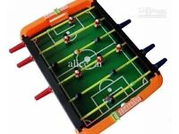 Table football game with box