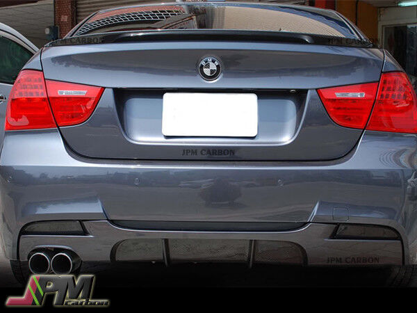 Carbon Fiber Rear Diffuser Dual for 09-11 BMW E90 LCI w// Performance Bumper only