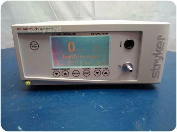STRYKER 620-040-503 40 L CORE HIGH-FLOW INSUFFLATOR W/ LOW FLOW MODE @ (219838)