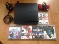 Sony PlayStation 3 Slim Black 160 GB + 5 games excellent condition