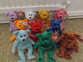 job lot of ty collectable teddies
