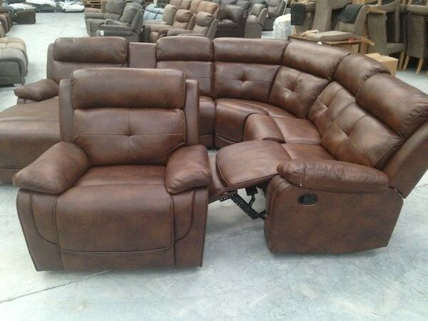 Like New Leather Recliner Corner Sofa And A Armchair