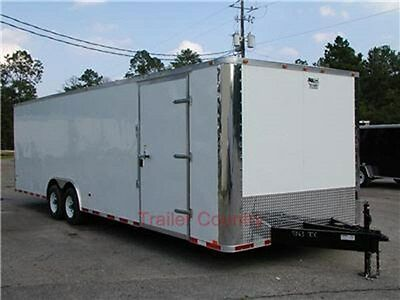 New 8.5x28 8.5 X 28 Enclosed Cargo Carhauler Trailer