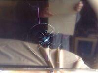 "•Tecnika 50"" led working but screen damage £15"