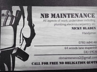 NB maintenance for plumbing electrics,carpentry etc