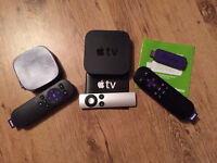 Apple TV, Roku stick and Roku LT box bundle!