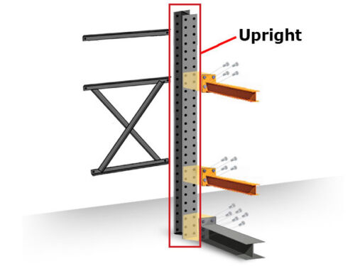 Structural Cantilever Racking Uprights - 16
