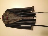 3/4 length Danier leather coat