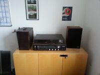 "Sanyo G 4001 turntable and speaker for spares and repairs, plus a box of 25 12"" records"