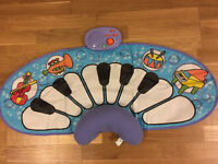 Tummy time piano play mat