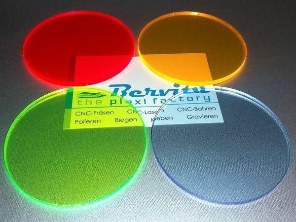 3mm Acrylglas Platte 25x25 cm rot fluoreszierend
