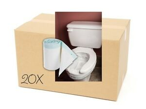 Toilet Bags with Super-Absorbent Pads (20 rolls of 18 bags)