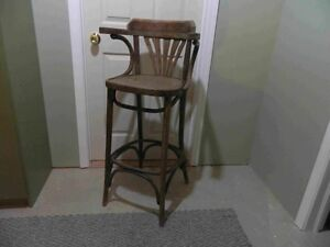 Older Wood Bar Stool
