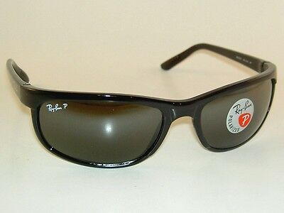 New  RAY BAN  Predator 2 Sunglasses Black Frame  RB 2027 601/W1  Glass Polarized