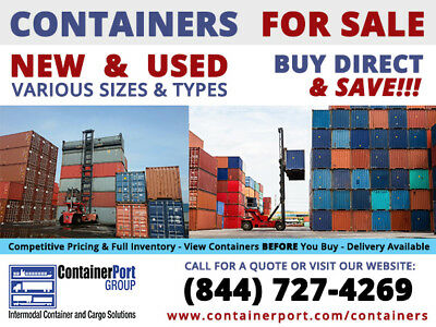 20 Footft Standard Steel Cargo Intermodal Shipping Container Cleveland Ohio