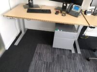 Height adjustable desk - mechanical not electric, 150cm wide