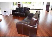 2 + 3 seater leather sofas can be delivered
