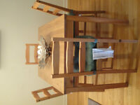 Ikea JOKKMOKK Table and 4 chairs (antique stain color)