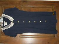 Robe bleu marin / Navy blue dress - size 7