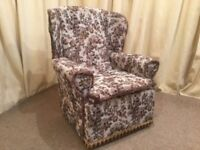 Tapestry Armchair - High Wing Back Easy Chair