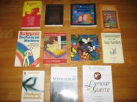 french and english books/ Livres francais et anglais