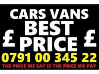 079100 34522 WANTED CAR VAN 4x4 BIKE SELL MY BUY YOUR FOR CASH Fast