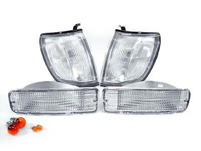Jdm Corner Lights - DEPO JDM Clear Corner Lights + Bumper Signal Lights For 1996-1998 Toyota 4Runner