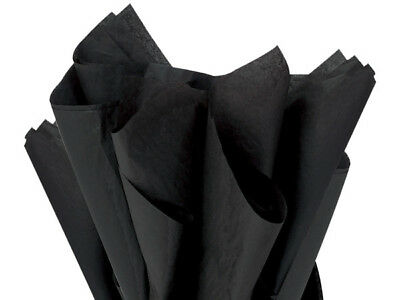 Black Tissue Paper 480 Sheets 20x30 Autumn Fall Halloween Gift Wrap Crafts Poms