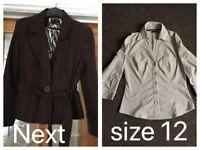 Next blouse and jacket. Size 12