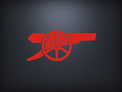Arsenal Fc Cannon Football Soccer Decal Sticker