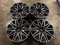 22″ Inch Staggered X5 X6 X7 818M Style Wheels 5x112 G05 GO6 G07 Black 66.6