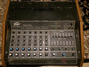 Peavey XR-700 Dual powered mixing console/ power amp.