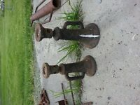 2 Antique Bottle Jack Stands