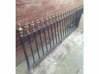 Antique Victorian garden railings fencing.